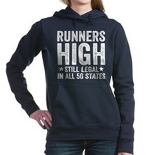 Runner's High. Still Leg Women's Hooded Sweatshirt