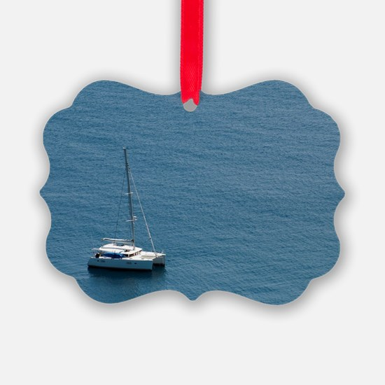 Luxury sailing catamaran Ornament