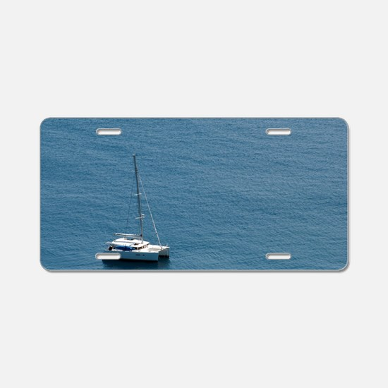 Luxury sailing catamaran Aluminum License Plate