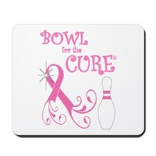 Bowl for the Cure Curly Mousepad