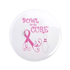 """Bowl for the Cure Curly 3.5"""" Button"""