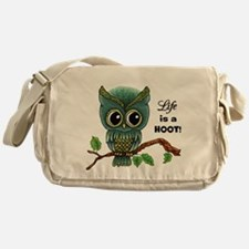 Lifes a Hoot Owl Messenger Bag