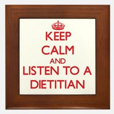 Keep Calm and Listen to a Dietitian Framed Tile
