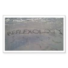 Reflexology in Black Sand Stickers
