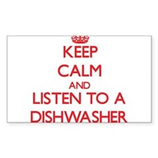 Keep Calm and Listen to a Dishwasher Decal
