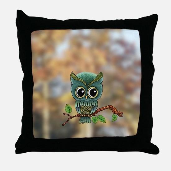 Lifes a Hoot Owl Throw Pillow