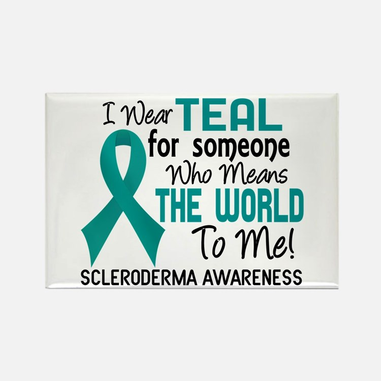 Scleroderma Means World To Me 2 Rectangle Magnet