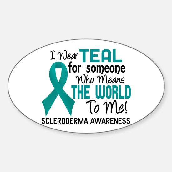 Scleroderma Means World To Me 2 Sticker (Oval)