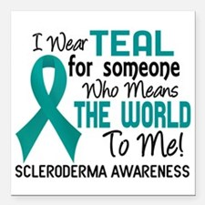 "Scleroderma Means World Square Car Magnet 3"" x 3"""