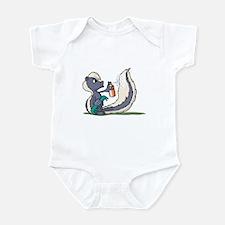 Stinky Skunk using Deodorant Infant Bodysuit