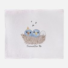 Baby Bird Throw Blanket