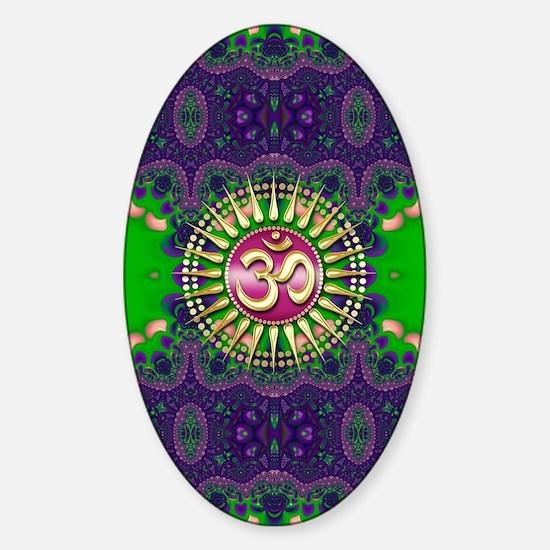Golden Sun OM - Purple Green Sticker (Oval)