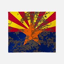 Retro Arizona Flag Throw Blanket