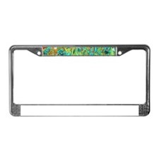 van gogh teal irises License Plate Frame