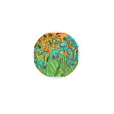 van gogh teal irises Mini Button