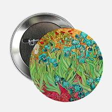 "van gogh teal irises 2.25"" Button (10 pack)"