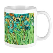 van gogh teal irises Mugs