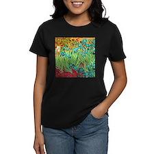 van gogh teal irises T-Shirt