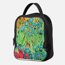 van gogh teal irises Neoprene Lunch Bag