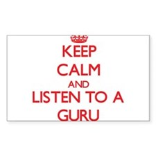 Keep Calm and Listen to a Guru Decal
