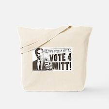 Vote 4 Mitt Tote Bag