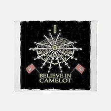 I Believe In Camelot Throw Blanket