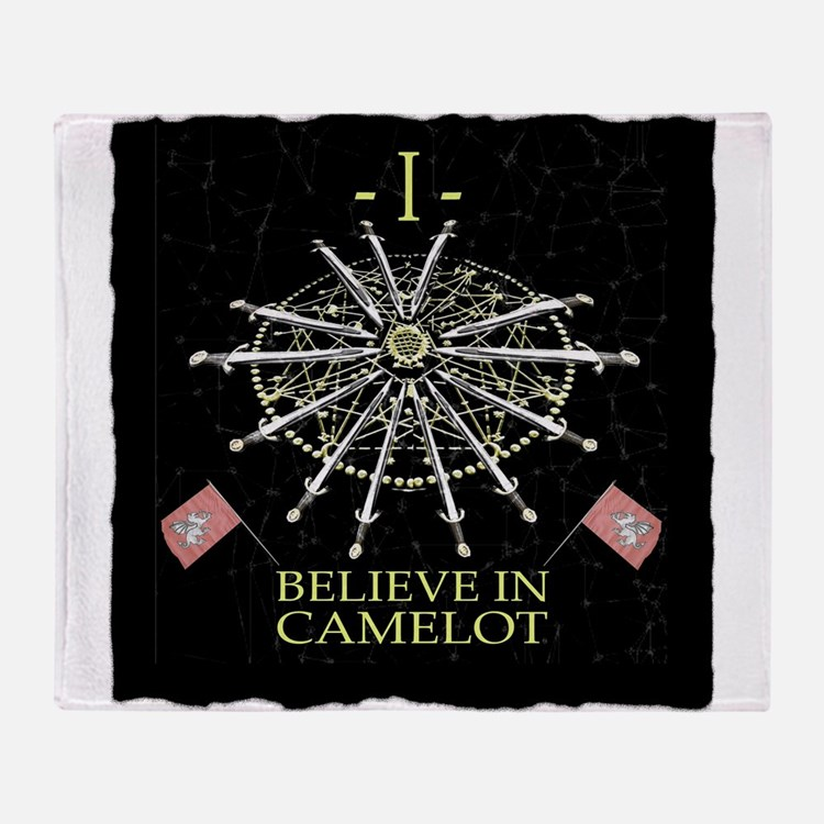I Believe In Camelot Throw Blanket