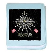 I Believe In Camelot baby blanket