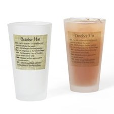 October 31st Drinking Glass