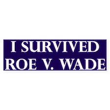 I Survived Roe V Wade Blue Bumper Car Sticker