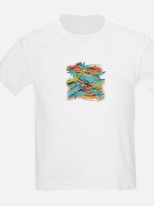 Turquoise Dragonflies Splash T-Shirt