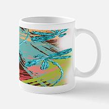 Turquoise Dragonflies Splash Mugs