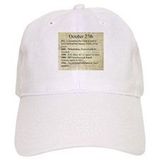 October 27th Baseball Baseball Cap