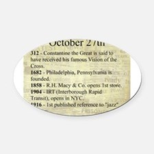 October 27th Oval Car Magnet