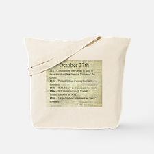 October 27th Tote Bag