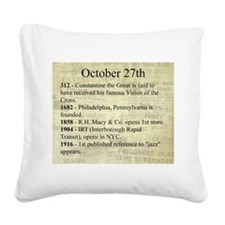 October 27th Square Canvas Pillow