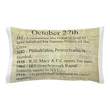 October 27th Pillow Case