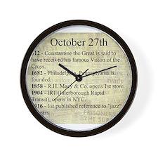 October 27th Wall Clock