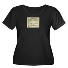 October 27th Plus Size T-Shirt