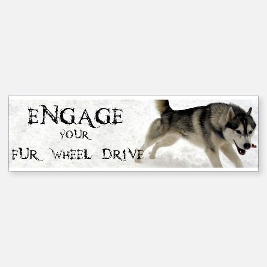 Engage Your Fur Wheel Drive Sticker (Bumper)