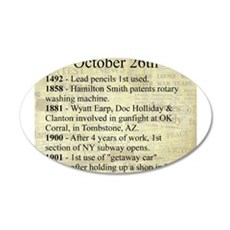 October 26th Wall Decal
