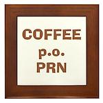 Coffee p.o. PRN Framed Tile