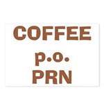 Coffee p.o. PRN Postcards (Package of 8)