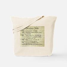 October 26th Tote Bag