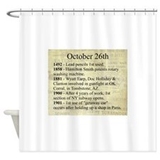 October 26th Shower Curtain