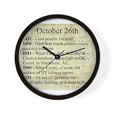 October 26th Wall Clock