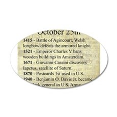 October 25th Wall Decal