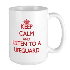 Keep Calm and Listen to a Lifeguard Mugs