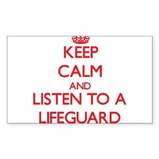 Keep Calm and Listen to a Lifeguard Decal