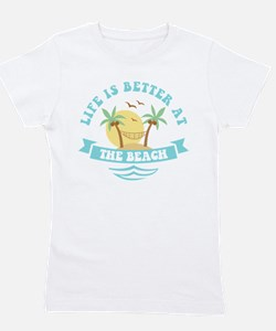 Life's Better At The Beach Girl's Tee